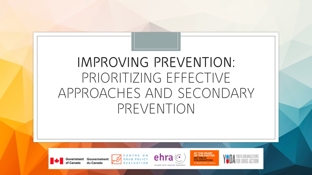 Commission on Narcotic Drugs (CND) side event: Improving Prevention: Prioritizing Effective Approaches and Secondary Prevention